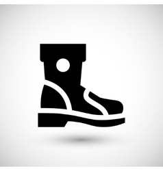 Industrial boot icon vector