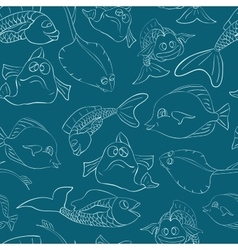 Fish underwater world seamless vector