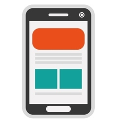 Cellphone with webpage on screen icon vector