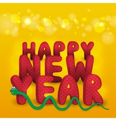 New years card with snake vector