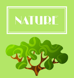Background with abstract stylized tree natural vector