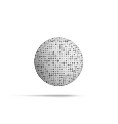 ball shape with mosaic texture vector image vector image