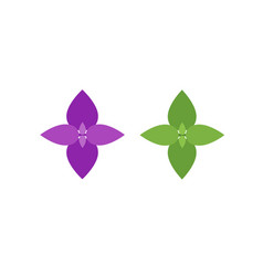 basil leaves flat icons for food decor vector image