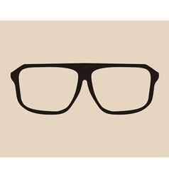 Big black eye glasses vector image vector image