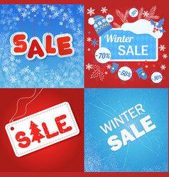 blue and red colored winter vector image