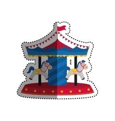 circus carrousel festival vector image