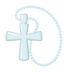Cross pendant icon cartoon style vector