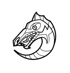 Decorative dragon head vector