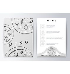 Design menu background pizza for restaurant or vector