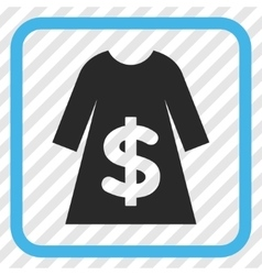 Dress sale icon in a frame vector
