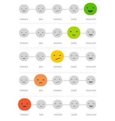 emoticons scale matrix - feedback concept design vector image vector image