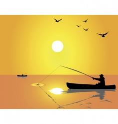 fishermen vector image vector image