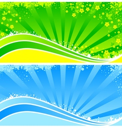 floral pattern rays vector image