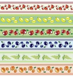 fruits design elements vector image