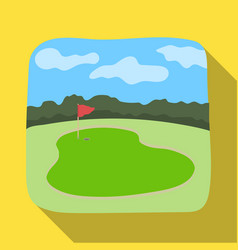 golf coursegolf club single icon in flat style vector image vector image