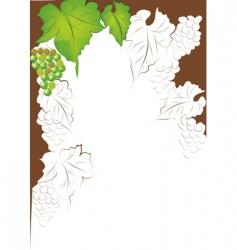 grapevine border vector image vector image