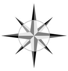 Gray windrose vector