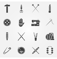 Hand made icons set vector image