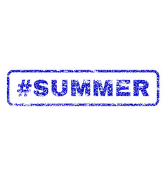 Hashtag summer rubber stamp vector