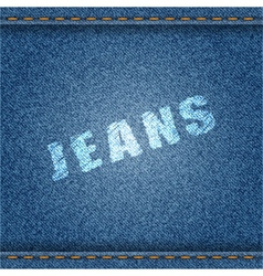 Jeans Banner vector image