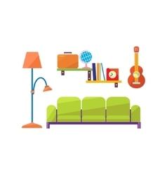 living Room Interior Set vector image vector image