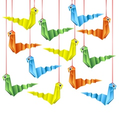 origami snakes vector image vector image