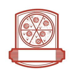Pizza restaurant emblem icon vector