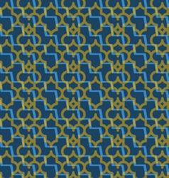Retro 3d blue and yellow zigzag cut marrakech vector