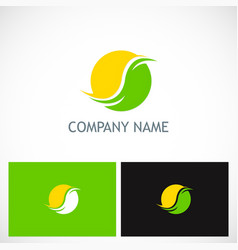 Round abstract globe company logo vector