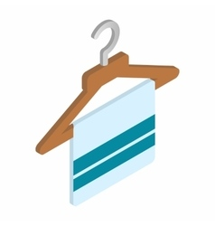Scarf on coat-hanger isometric 3d icon vector
