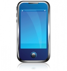 stylish blue cell phone vector image vector image