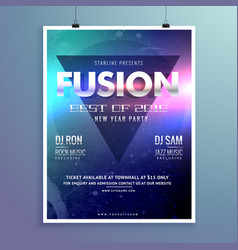 Stylish modern music flyer design template vector