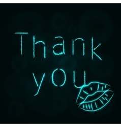 Thank you silhouette of lights vector