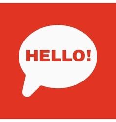 The hello icon greet and hi symbol flat vector