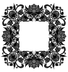 Vintage baroque flourish luxurious frame hop cones vector