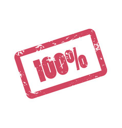 100 percent inscription in red frame one hundred vector image