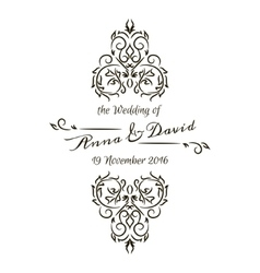 Floral calligraphic frame vector image