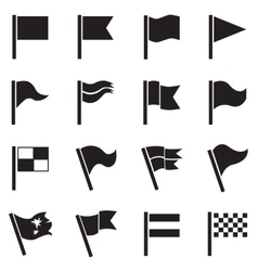 Flag icon set vector