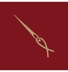 The thread with a needle icon tailor and sewing vector