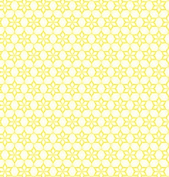 Yellow seamless flower pattern vector image