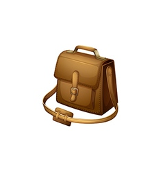 A brown shoulder bag vector