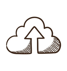 Cloud share symbol vector image