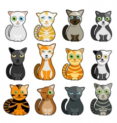 Cute cats vector