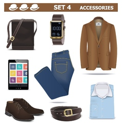 Male accessories set 4 vector