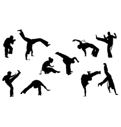 Capoeira set vector
