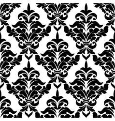 Decorative damask floral seamless pattern vector image