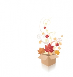 Autumn box vector