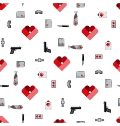 St valentines day symbols mens accessories vector