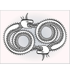 Decorative ethnic pattern in style of Indian and vector image