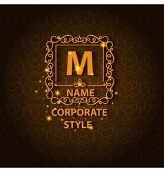 Shiny corporate style card with pattern vector image
